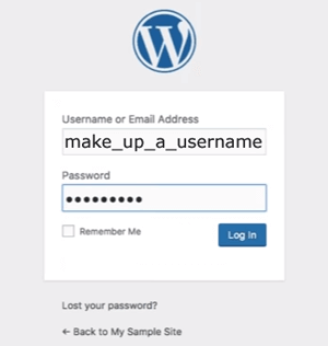 WordPress: Login screen
