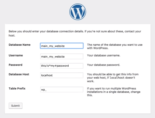 WordPress: MySQL connect